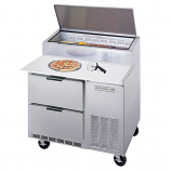 Beverage Air DPD46-2 Two Drawer Pizza Prep Table - 46""
