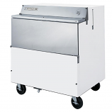 """Beverage Air SMF34Y-1-W-02 White Exterior with Stainless Steel Interior Forced Air Milk Cooler 1 Sided - 34"""""""