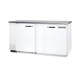"""Beverage Air MS68-1-W White Single Sided Milk Cooler with Stainless Steel Top - 68"""""""