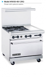 """American Range ARW36-4B-12RG 36"""" Wide Restaurant Ranges with 32"""" Wide Oven"""