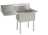 """BK Resources BKS-1-1620-12-18L One Compartment Sink with Left Side 18"""" Drainboard"""