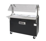 Triumph B2-208/240-B-S-SB Portable Hot Food Buffet Table w/ Solid Base & 2-Stainless Wells, 208/240 V