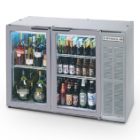 "Beverage Air BB48GY-1-S 48"" Stainless Steel Back Bar Refrigerator with 2 Glass Doors - 115V"