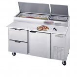 Beverage Air DPD93-2 Two Door, Two Drawer Pizza Prep Table - 93""