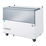 """Beverage Air SM58N-W-02 White Exterior and Stainless Steel Interior Milk Cooler 1 Sided - 58 1/2"""""""