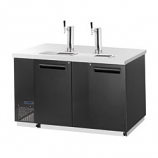 Maxx Cold MCBD70-2B Keg Cooler with 2 Towers. Double Doors